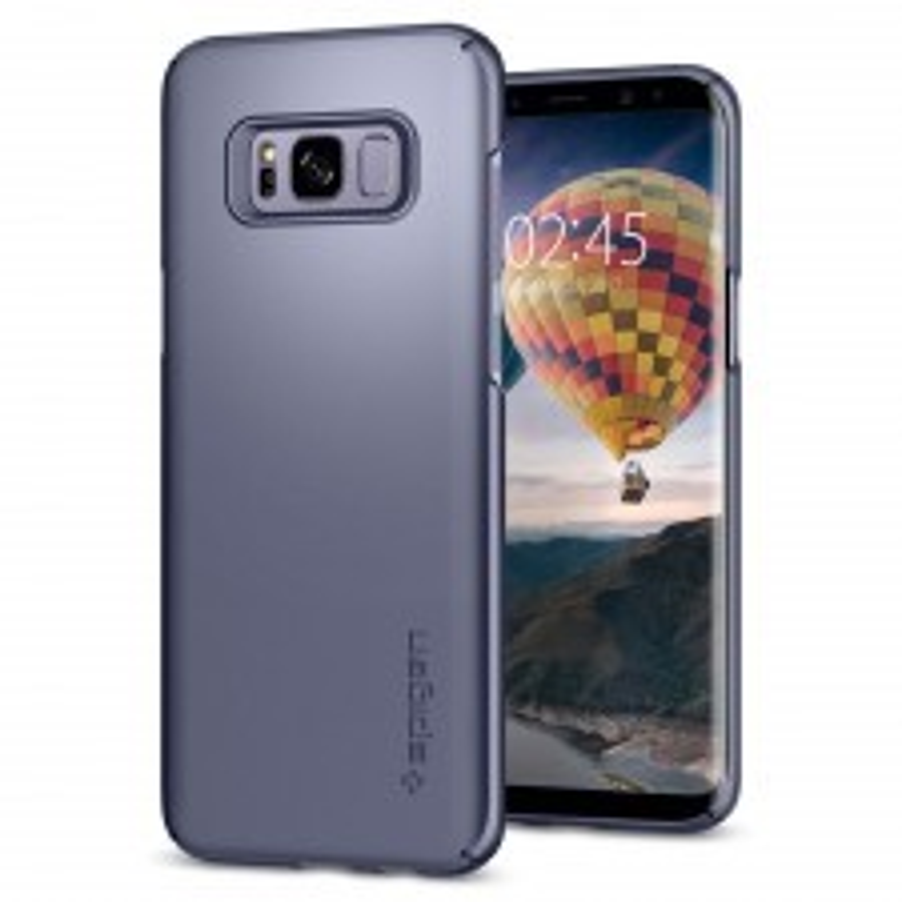 Клип-кейс SPIGEN для Galaxy S8 Plus - Thin Fit - Серая Орхидея - SGP-571CS21675