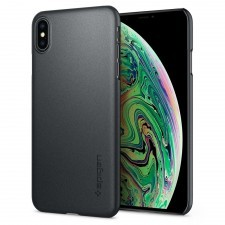 Клип-кейс SPIGEN для iPhone XS Max - Thin Fit - Серый Графит - SGP-065CS24825