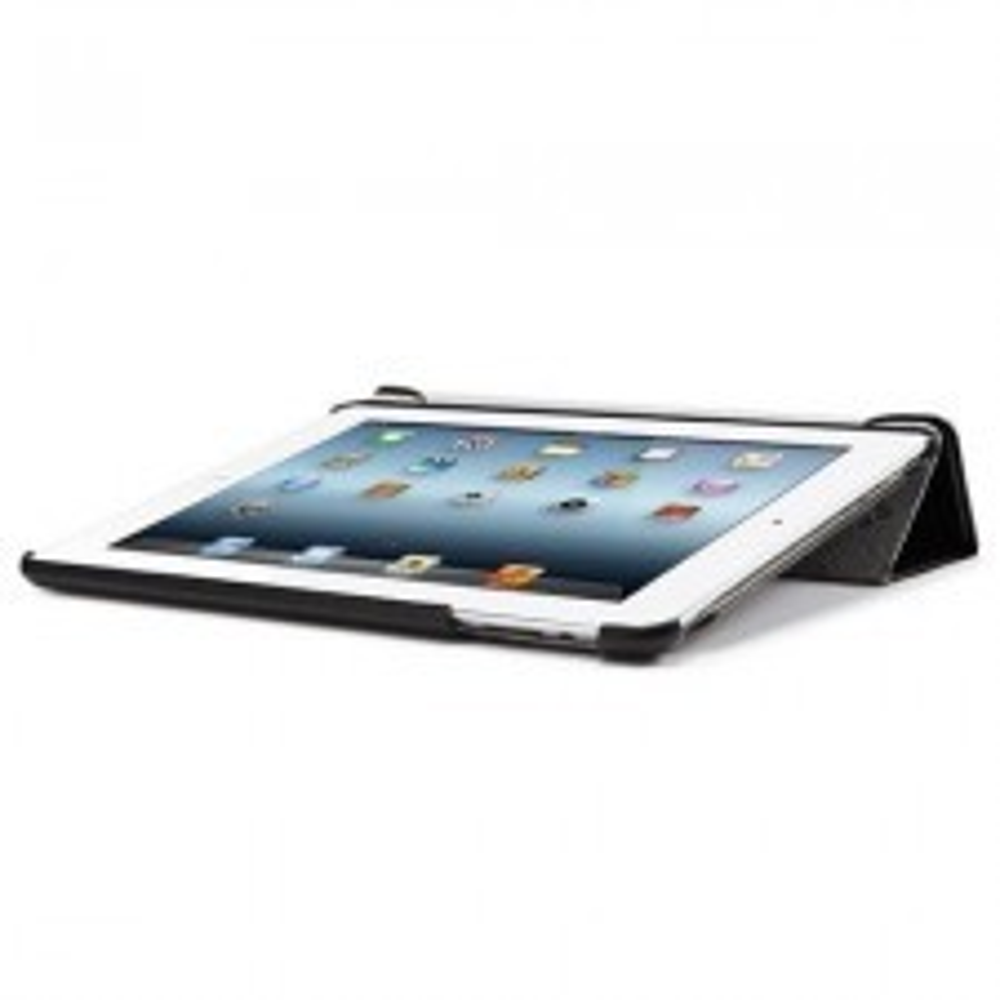 Кожаный чехол-подставка SPIGEN для iPad 2 / 3 / 4 - Leinwand - Черный - SGP09164