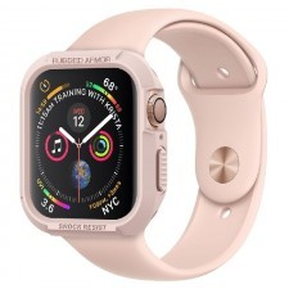 Прочный чехол SPIGEN для Apple Watch 5 / 4 (40мм) - Rugged Armor - Розовое золото - 061CS24481