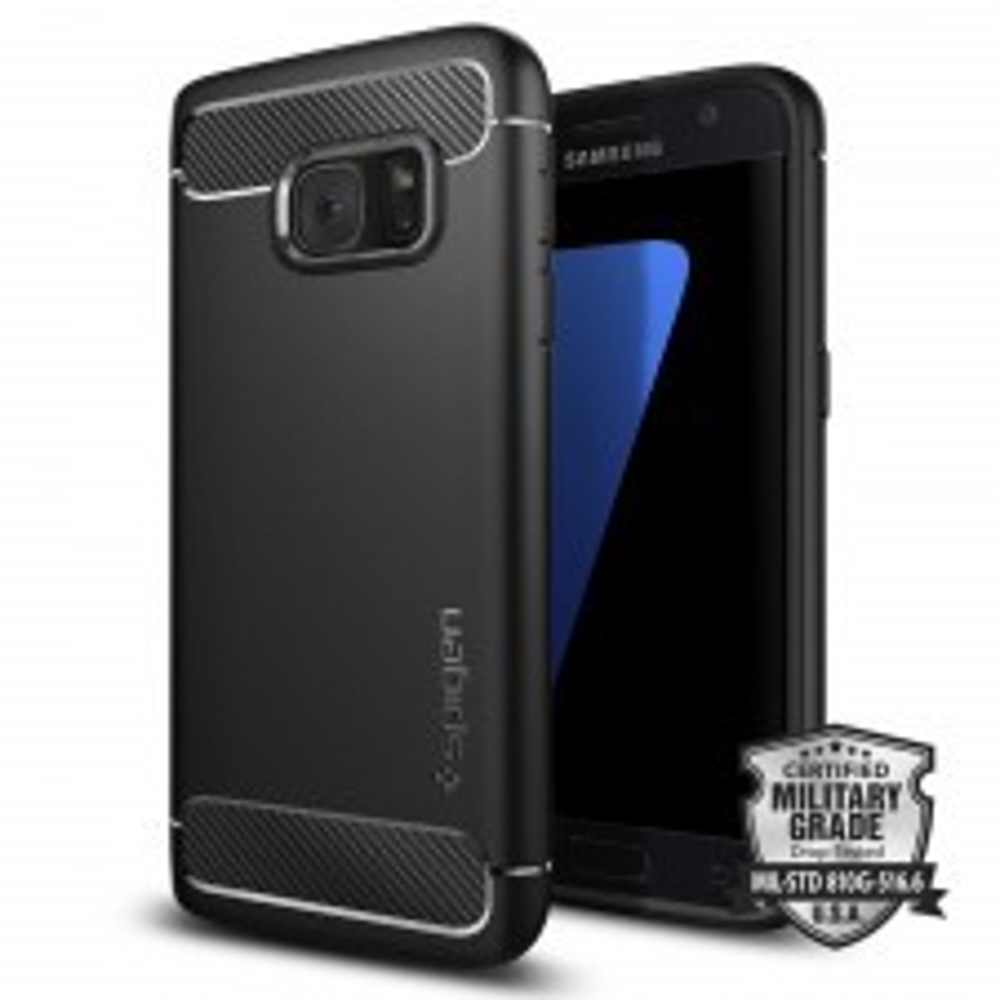 Прочный чехол SPIGEN для Galaxy S7 - Rugged Armor - Черный - 555CS20007