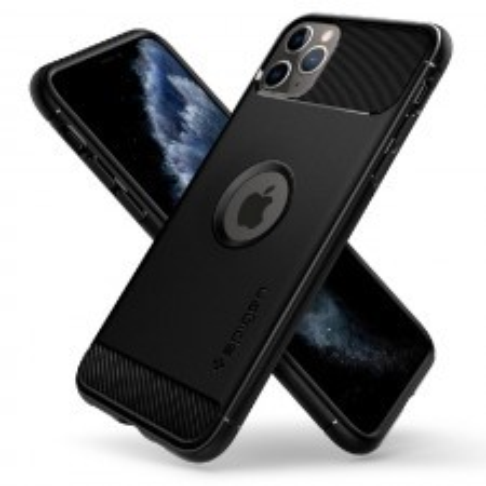 Прочный чехол SPIGEN для iPhone 11 Pro - Rugged Armor - Черный - 077CS27231