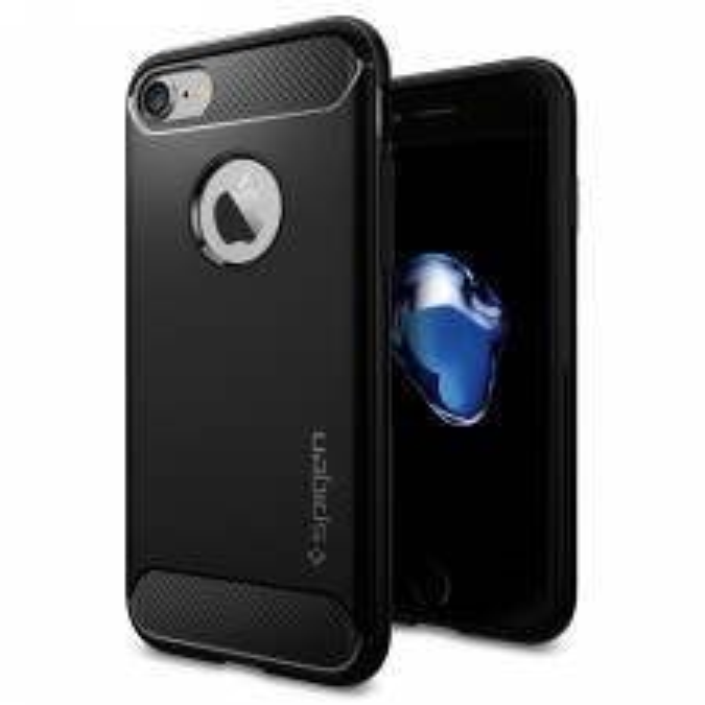 Прочный чехол SPIGEN для iPhone SE (2020) / 7 / 8 - Rugged Armor - Черный - SGP-042CS20441