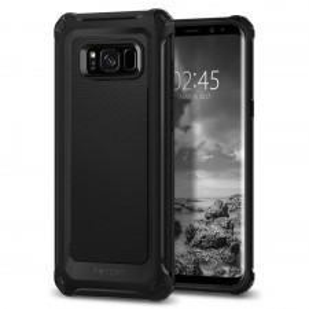 Прочный чехол SPIGEN для Galaxy S8 - Rugged Armor Extra - Экстра-черный - SGP-565CS21319