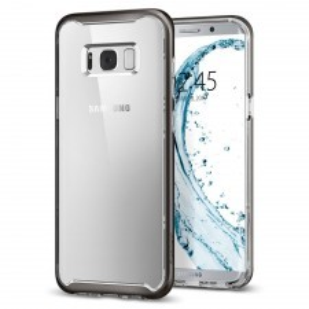 Прозрачный чехол SPIGEN для Galaxy S8 Plus - Neo Hybrid Crystal - Темно-серый - SGP-571CS21654