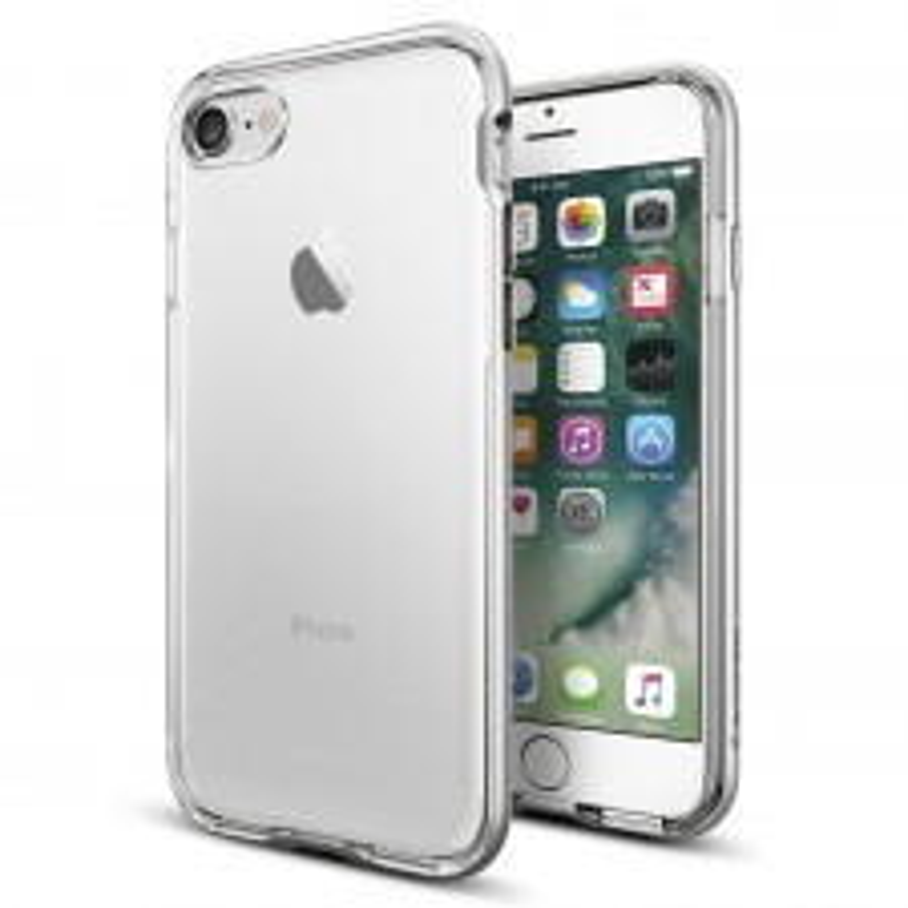 Прозрачный чехол SPIGEN для iPhone SE (2020) / 7 / 8 - Neo Hybrid Crystal - Серебристый - SGP-042CS20676