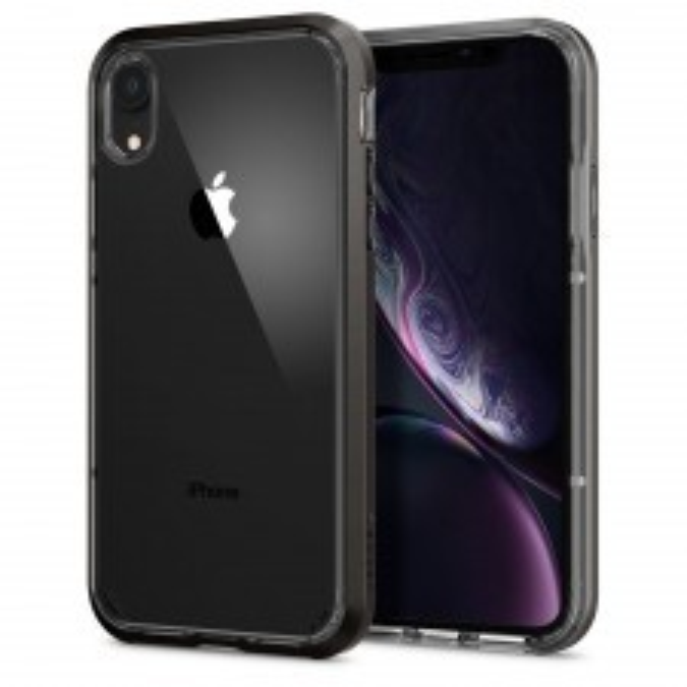 Прозрачный чехол SPIGEN для iPhone XR - Neo Hybrid Crystal - Темно-серый - SGP-064CS24884