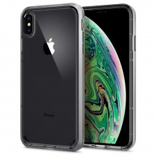 Прозрачный чехол SPIGEN для iPhone XS Max - Neo Hybrid Crystal - Серебристый - SGP-065CS24845