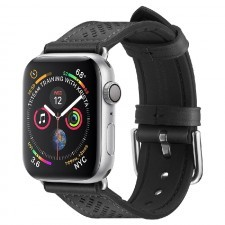 Ремешок SPIGEN для Apple Watch 5 / 4 (44мм) - Watch Band Retro Fit - Черный - 062MP25079