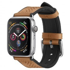 Ремешок SPIGEN для Apple Watch 5 / 4 (44мм) - Watch Band Retro Fit - Коричневый - 062MP25078
