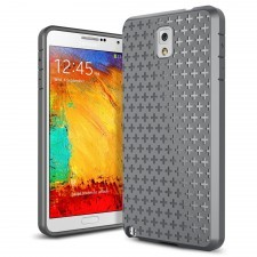 Силиконовый чехол SPIGEN для Galaxy Note 3 - Bounce - Серый - SGP10444