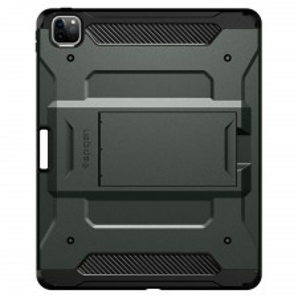 Ударопрочный чехол SPIGEN для iPad Pro 11 (2020/2018) - Tough Armor TECH - Темно-зеленый - ACS01023