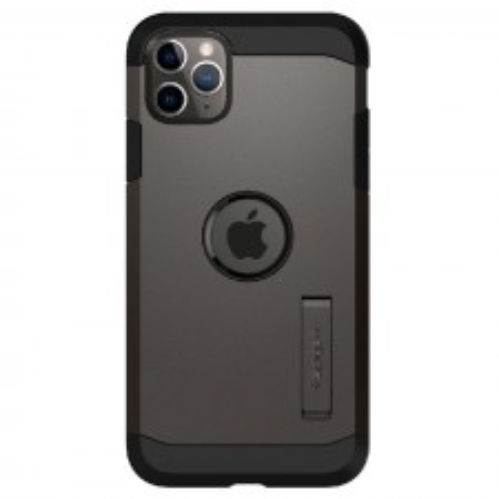 Ударопрочный чехол SPIGEN для iPhone 11 Pro Max - Tough Armor - Темно-серый - 075CS27141