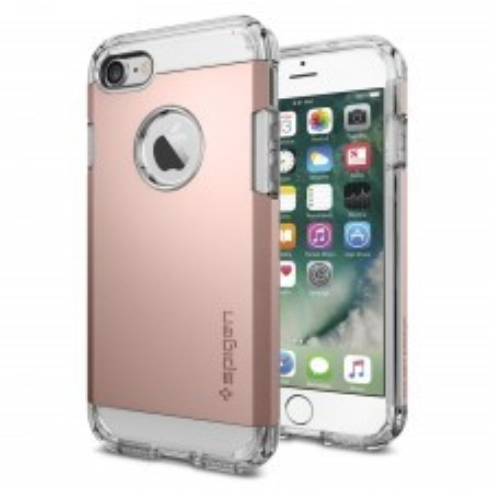 Ударопрочный чехол SPIGEN для iPhone SE (2020) / 7 / 8 - Tough Armor - Розовое Золото - SGP-042CS20492