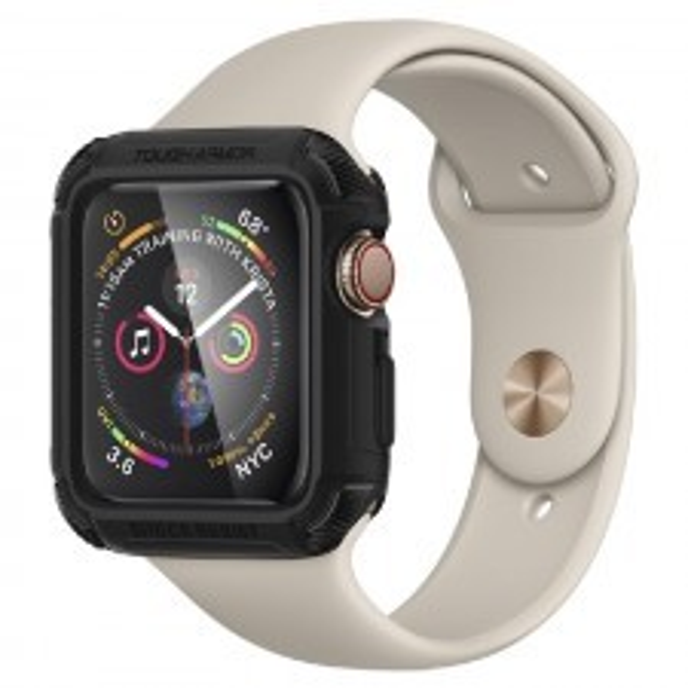 Ударопрочный чехол SPIGEN для Apple Watch 5 / 4 (44мм) - Tough Armor - Черный - 062CS24477