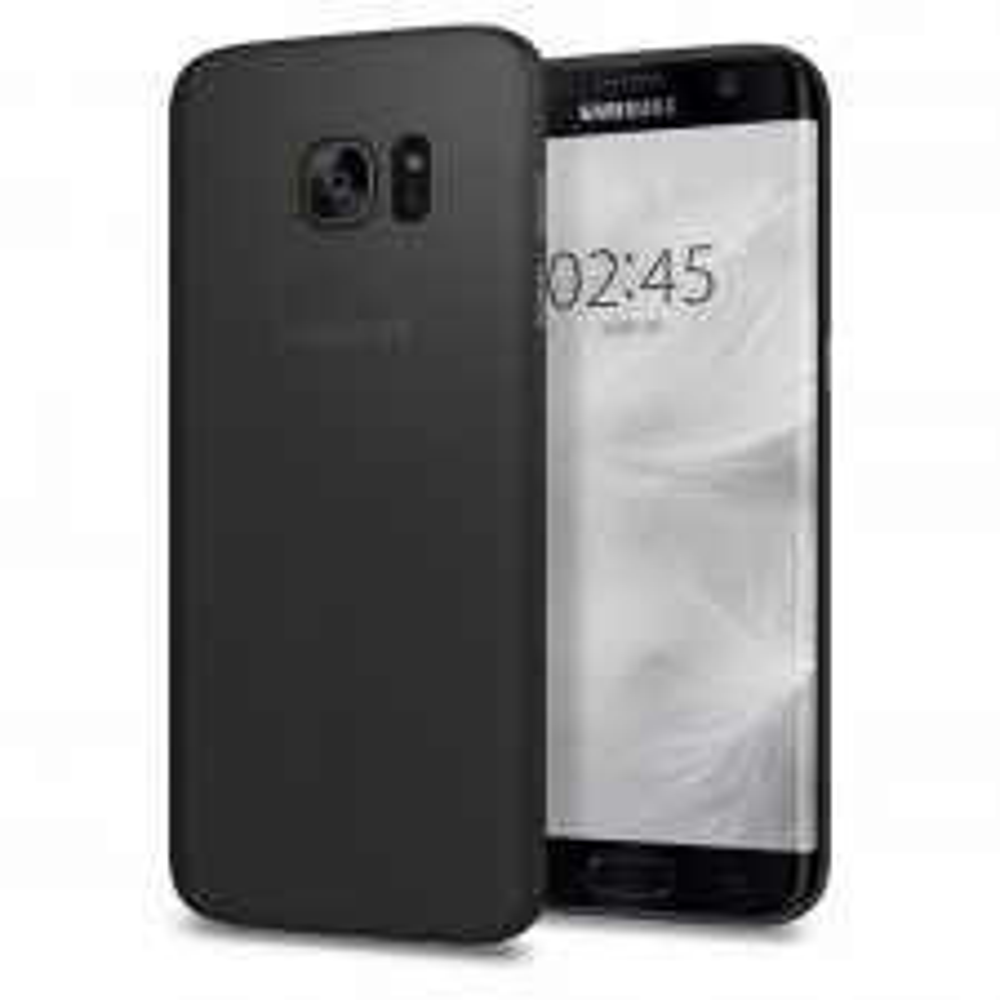 Ультра-тонкий чехол SPIGEN для Galaxy S7 Edge - AirSkin - Черный - SGP-556CS22316