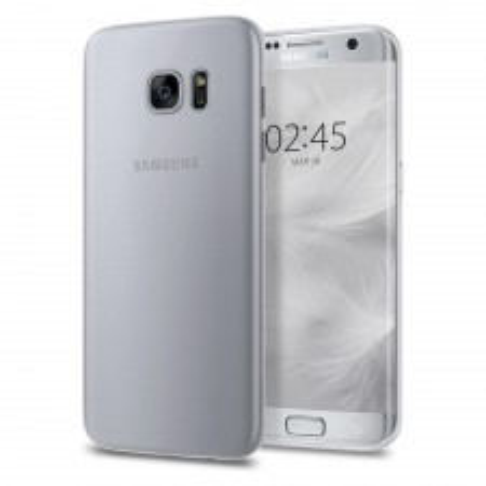 Ультра-тонкий чехол SPIGEN для Galaxy S7 Edge - AirSkin - Прозрачный-матовый - SGP-556CS22317