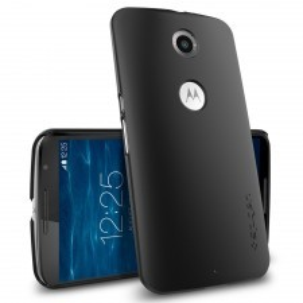 Ультратонкий чехол SPIGEN для Nexus 6 - Ultra Fit - Черный - SGP11232