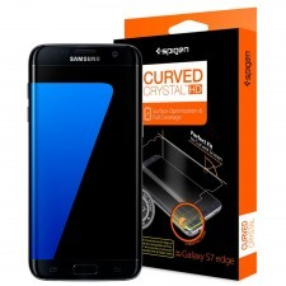 Комплект защитных пленок SPIGEN для Galaxy S7 Edge - Curved Crystal HD - SGP-556FL20264