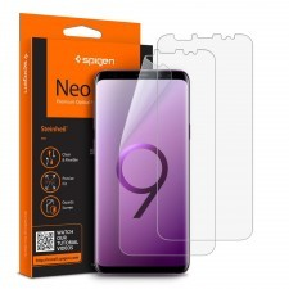Защитная пленка SPIGEN для Galaxy S9 Plus - Neo Flex HD - 593FL22902 - 2 шт