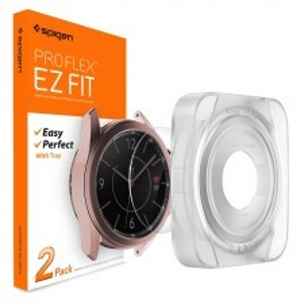 Защитное стекло SPIGEN для Galaxy Watch 3 (41mm) - EZ Fit GLAS.tR SLIM - AGL01844