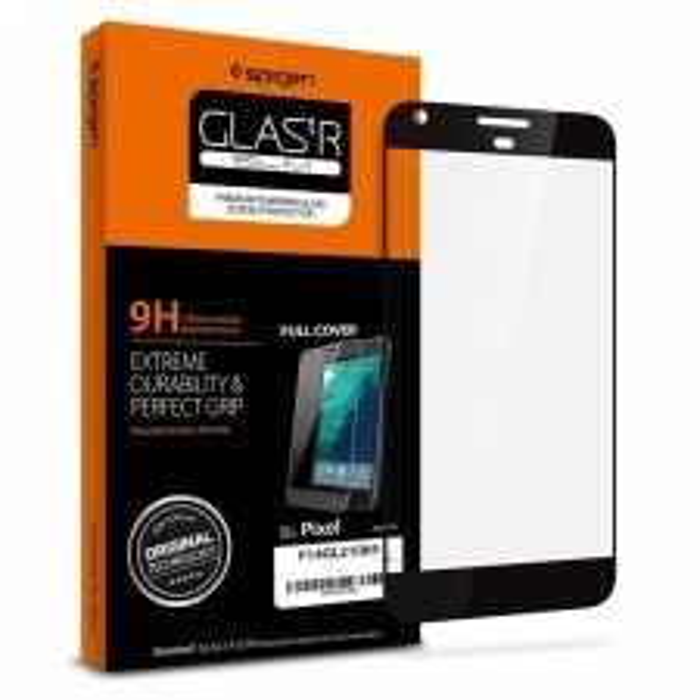 Защитное стекло SPIGEN для Google Pixel - Full Cover Glass - Черное - SGP-F14GL21061