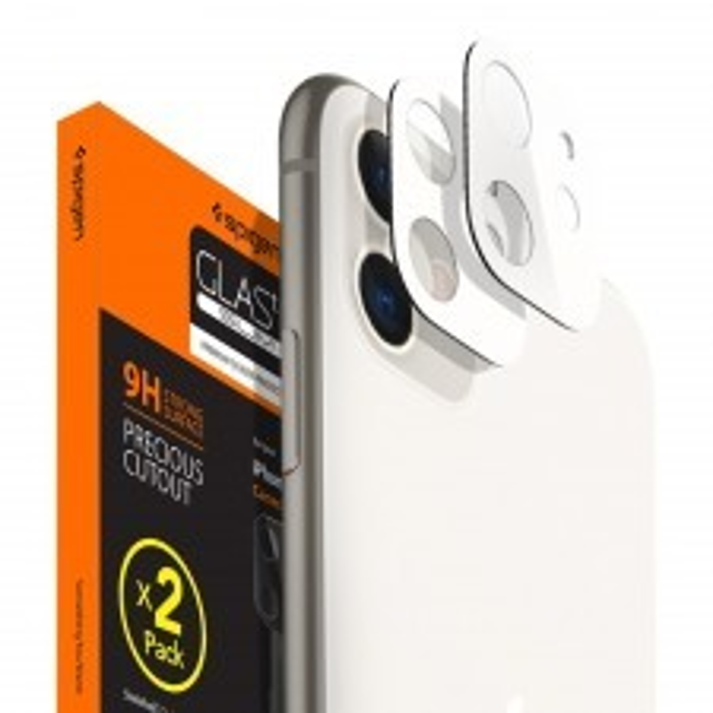 Защитное стекло для камеры SPIGEN для iPhone 11 - Full Cover Camera Lens - Белый - AGL00507 - 2 шт