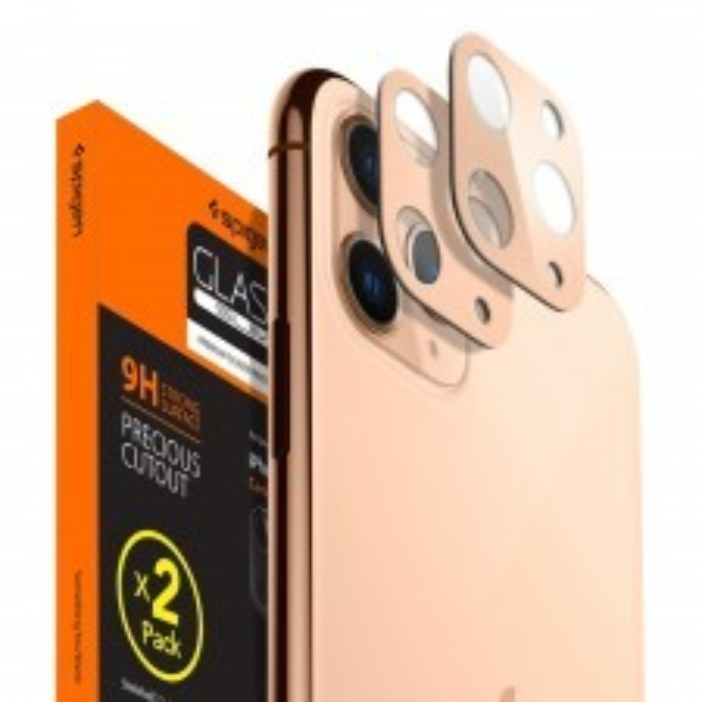 Защитное стекло SPIGEN для iPhone 11 Pro / 11 Pro Max - Full Cover Camera Lens - Золотистый - AGL00504 - 2 шт