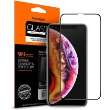 Защитное стекло SPIGEN для iPhone 11 Pro / XS / X - GLAS.tR Slim Full Cover - Black - 063GL25234