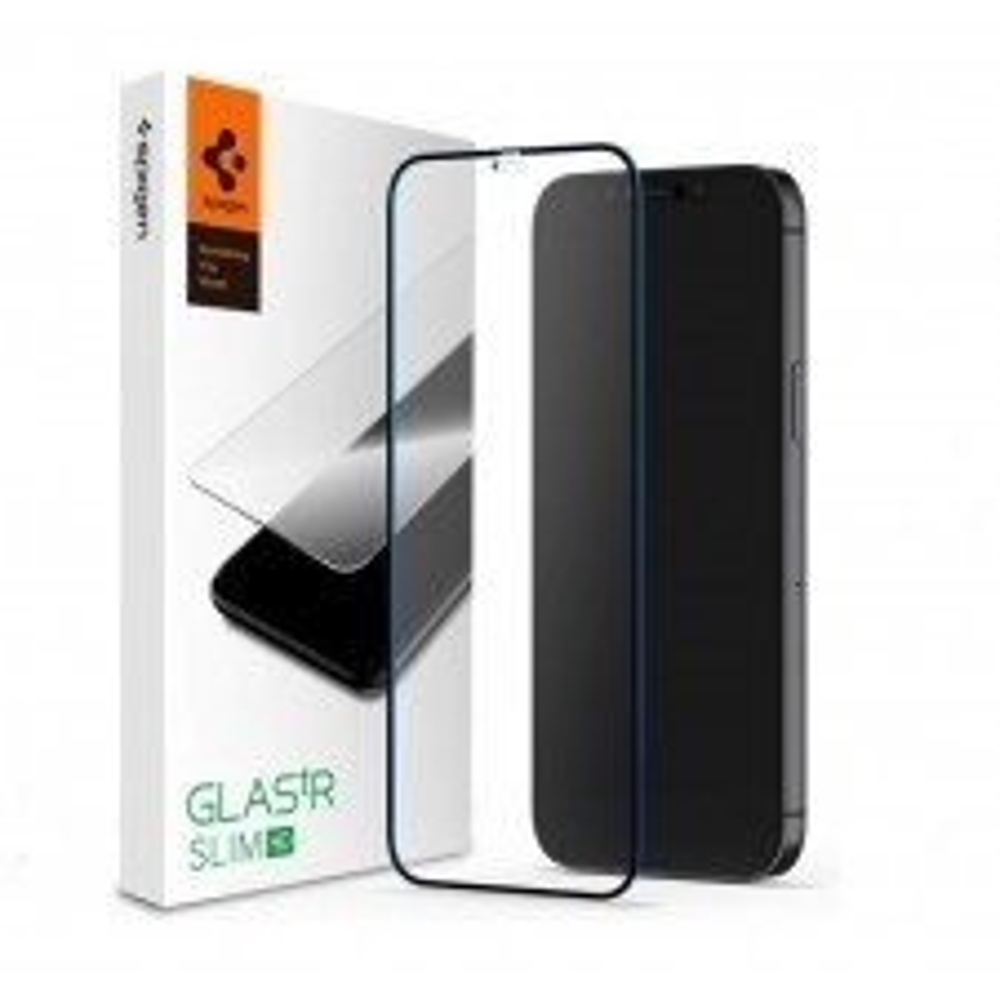 Защитное стекло SPIGEN для iPhone 12 Mini - Full Cover HD - Черный - 1 шт - AGL01534