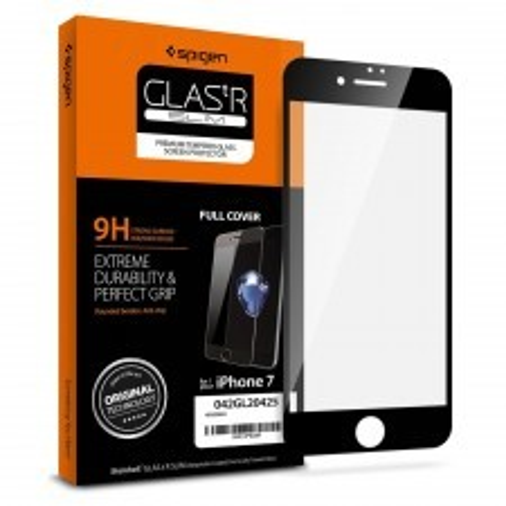 Защитное стекло SPIGEN для iPhone SE (2020) / 7 / 8 - Full Cover Glass - Черное - SGP-042GL20425