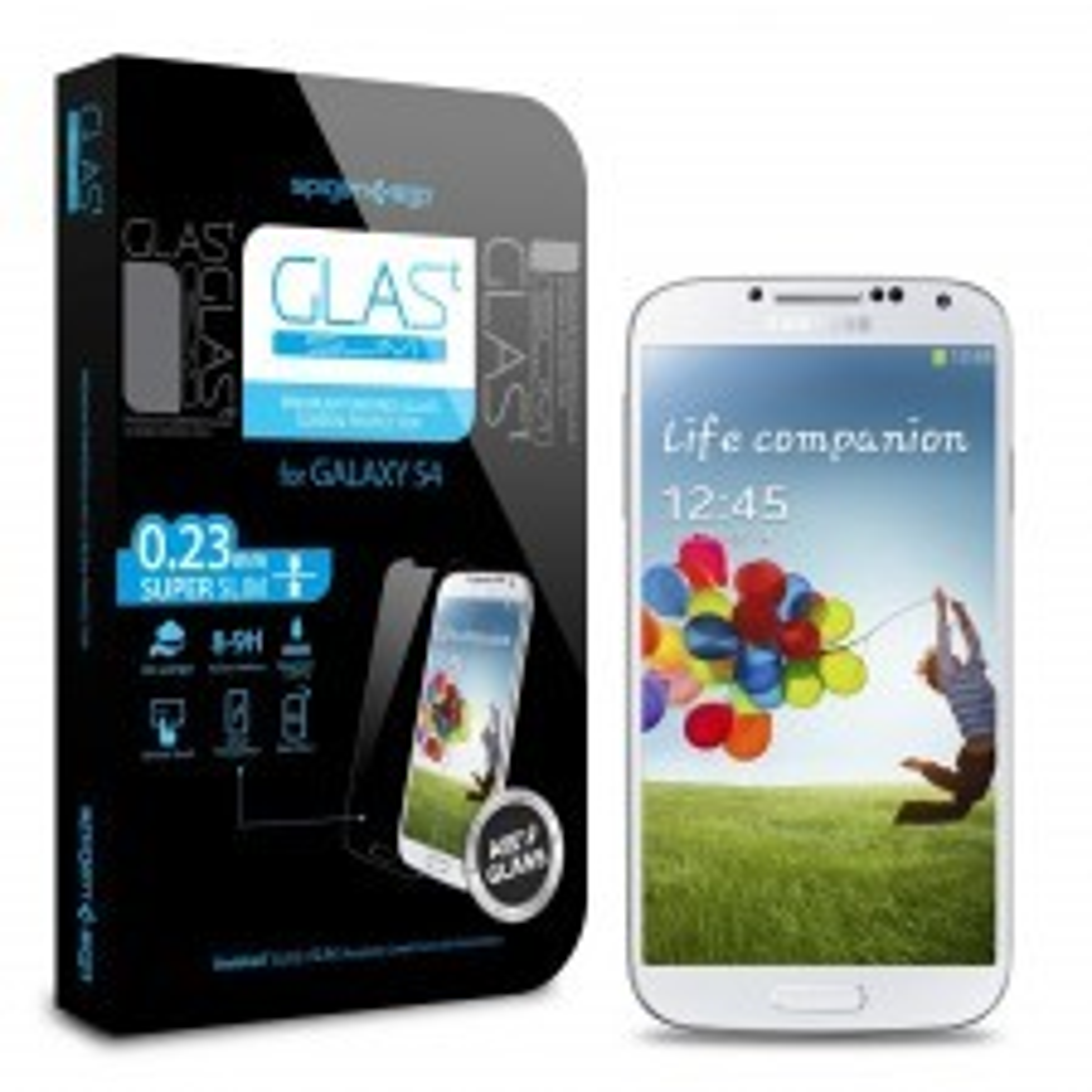Защитное стекло SPIGEN для Galaxy S4 - GLAS.t SLIM Premium - SGP10176