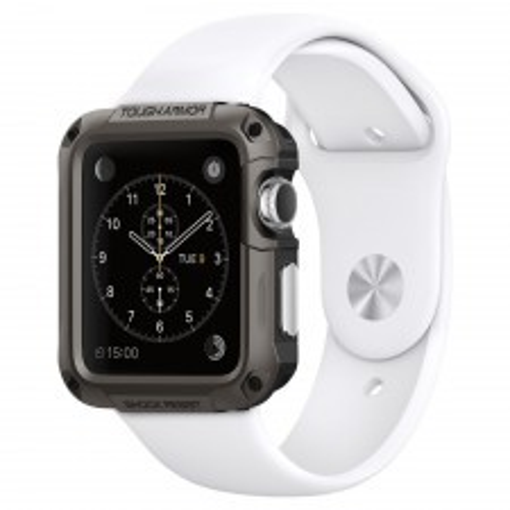 Защитный чехол SPIGEN для Apple Watch 1 / 2 (42мм) - Tough Armor - Темно-серый - SGP-048CS21060