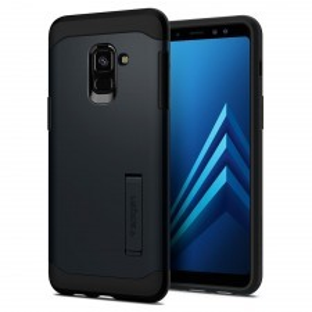 Защитный чехол SPIGEN для Galaxy A8 (2018) - Slim Armor - Синевато-серый - SGP-590CS22752