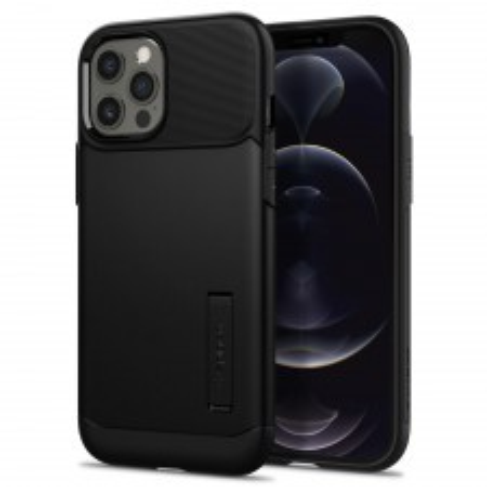 Защитный чехол SPIGEN для iPhone 12 Pro Max - Slim Armor - Чёрный - ACS01479