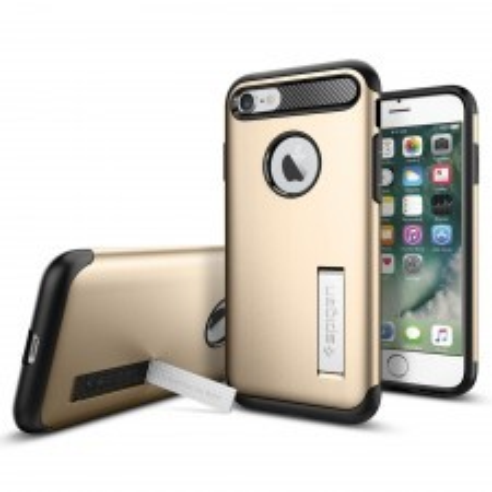 Защитный чехол SPIGEN для iPhone SE (2020) / 7 / 8 - Slim Armor - Золотой - SGP-042CS20302