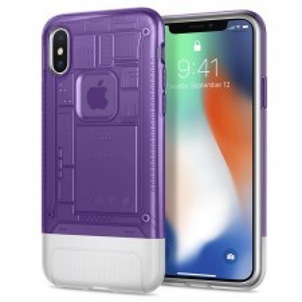 Защитный чехол SPIGEN для iPhone X / XS - Classic C1 - Фиолетовый - SGP-057CS24431