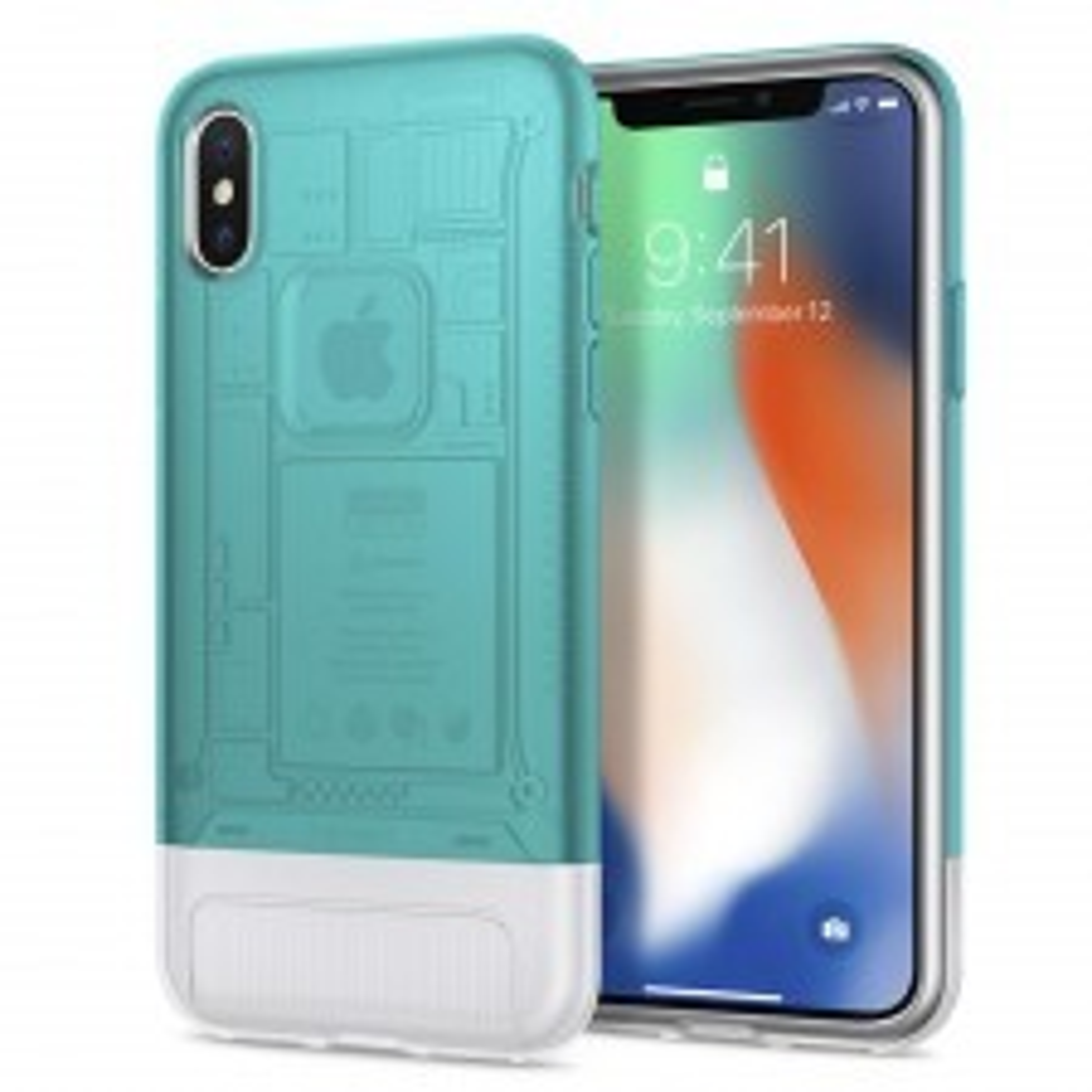 Защитный чехол SPIGEN для iPhone X / XS - Classic C1 - Мятный - SGP-057CS23194