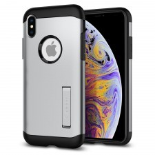 Защитный чехол SPIGEN для iPhone XS Max - Slim Armor - Серебристый - 065CS25159