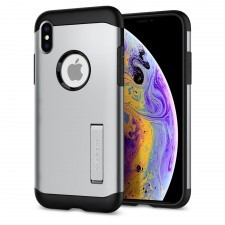 Защитный чехол SPIGEN для iPhone X / XS - Slim Armor - Серебристый - 063CS25139