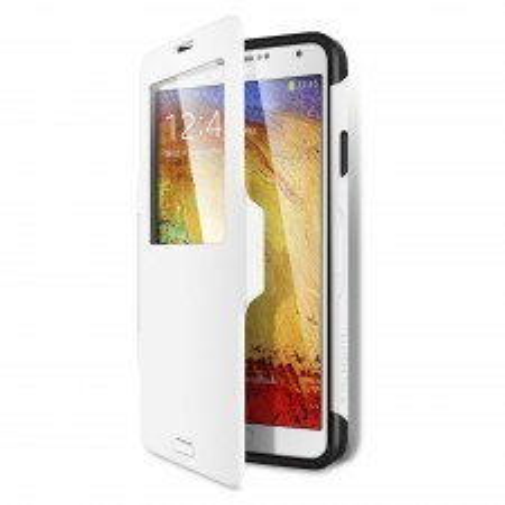 Защитный чехол SPIGEN для Galaxy Note 3 - Slim Armor View - Белый - SGP10683